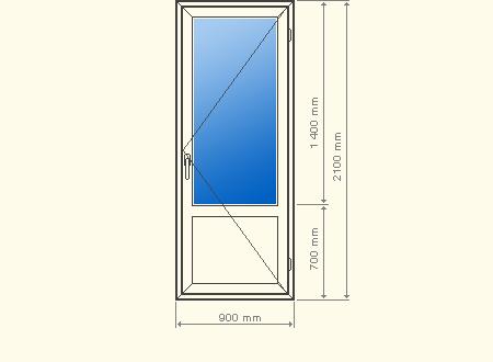 входная дверь 2100 900